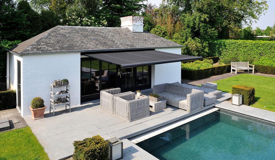 Brustor b50 knikarmscherm kwaliteit hoeft niet duur te zijn - Kleine tuin zen buiten ...