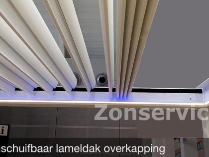 Brustor outdoor living B600 lameldak overkapping met verschuifbare lamellen