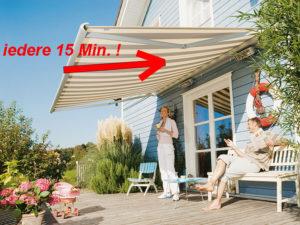 Heeft u een probleem dat uw zonnescherm na 15 minuten alweer inrolt? Wij helpen u