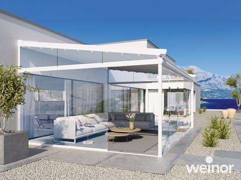 terrasoverkapping weinor terrazza van zonservice. Black Bedroom Furniture Sets. Home Design Ideas